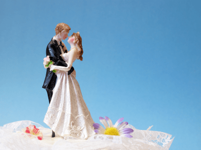 Cake Topper Bride and Groom