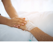 holding patient hand