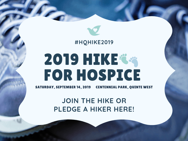 2019 HQ Hike For Hospice Promo Web Graphic