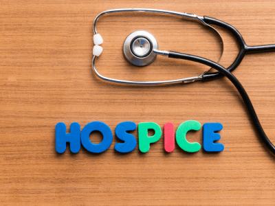 "stethoscope with words ""hospice"""